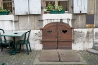 Love heart doors in Geneve, Switzerland