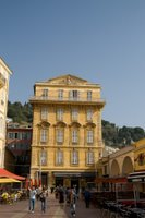 Yellow building in Nice, France