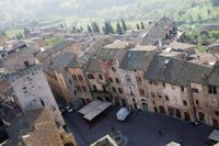 Birds-eye view of San Gimignano, Italy