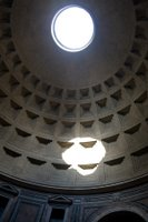 The Pantheon's ceiling in Rome, Italy