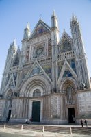 Church at the top of the hill in Orvieto, Italy