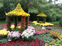 A tower of flowers at Yuanmingyuan (圆明园,) Beijing (北京,) China