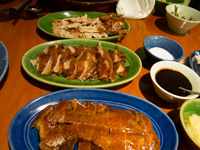 Andy Hayler recommended this roast duck place over Da Dong, but I disagree, I think Da Dong is better. Beijing-style roast duck at Made in China (Chinese name Changan yi hao [长安壹号,]) Dongcheng (东城,) Beijing (北京,) China