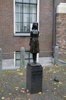 Statue of Anne Frank in Amsterdam, The Netherlands