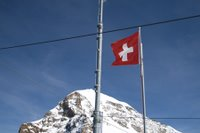 Flag at the 'Top of Europe,' Switzerland