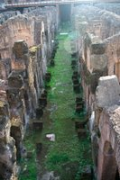 Depths of the Colosseum in Rome, Italy