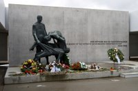 'In memory' monument at the Sachsenhausen concentration camp, Germany