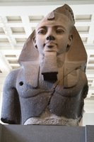 Statue of Ramesses II at the British Museum in London, England