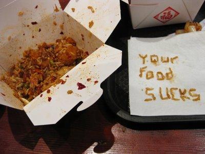Terrible faux-Asian food in London