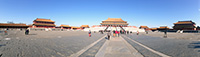 Panorama of Forbidden city in Beijing