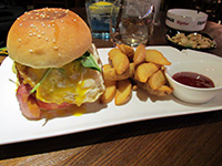 Burger and chips from Amigo restaurant in Hangzhou, China