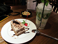 Slice of Blackforest cake and a Mojito from Amigo restaurant in Hangzhou, China