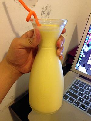 Huge mango shake