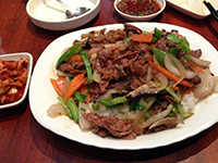 Nice restaurant 1: Beef bulgogi with mixed vegetables and rice