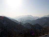 View from the Great Wall, China side