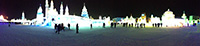 Panorama of the Ice festival in Harbin