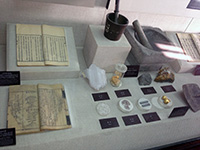 Medicine Museum implements and minerals