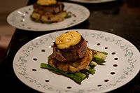 Beef fillet mignon with pommes beaucaire