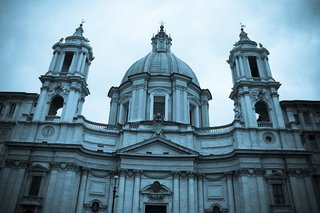 The church at Piazza Navona